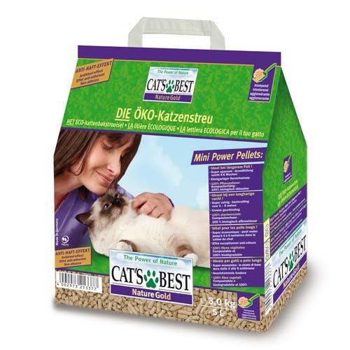 JRS Cat´s best Nature gold 5l/3kg - csomósodó faalapú alom hosszúszőrű macskáknak