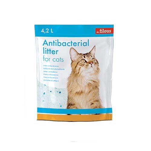 LES FILOUS SILICA GEL 4,2l/1,85kg 1-8mm Szilikonos alom macskáknak+ 3% antibakteriális kék golyócskák