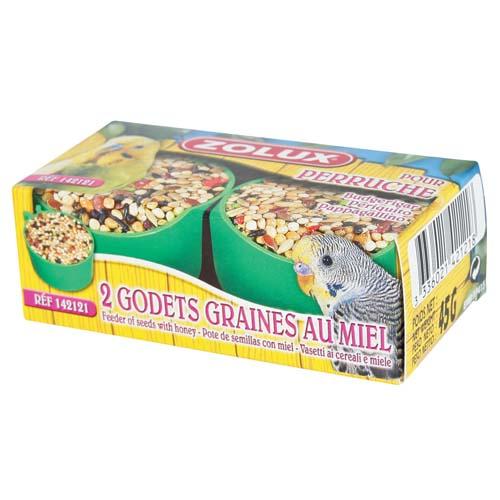 ZOLUX BOX 2 BUDGERIGAR HONEY POTS mézes csemege hullámospapagájoknak 2 box