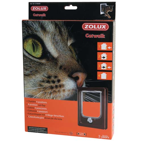 ZOLUX CAT DOOR ajtó macskáknak négypontos zárral 15,5x17cm barna