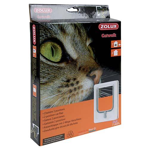 ZOLUX CAT DOOR ajtó macskáknak kétpontos zárral 15,5x17cm fehér