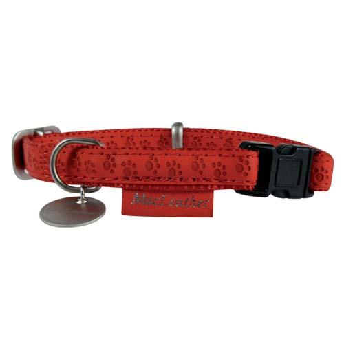ZOLUX MAX LEATHER Nyakörv bőrből piros 10mm