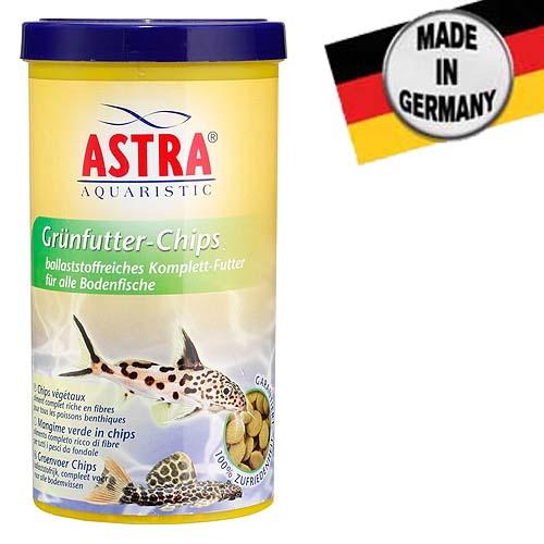 ASTRA GRÜNFUTTER CHIPS  250 ml/110 g teljes értékű táp a víz alján élő trópusi halak számára