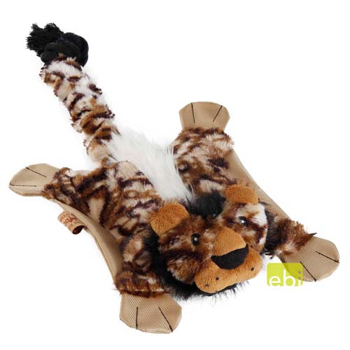EBI DOG TOY FLATTY-LION ca.54x27cm unstuffed with squeaker & crackle & rope