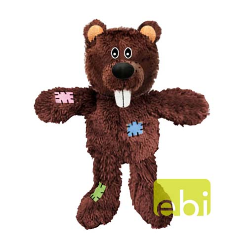EBI DOG TOY KNOT NUTS BEAR ca.26cm plush toy with rope inside