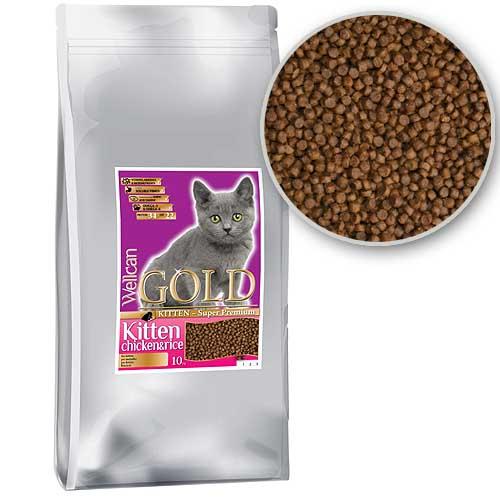 WELLCAN GOLD CAT KITTEN 34/22 10kg speciális formula kiscicáknak és növésben levő macskáknak