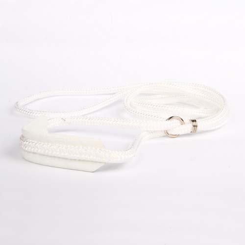 COBBYS PET Felvezető póráz gömbölyű, nylon, bőr nyakrésszel 4mm/120cm