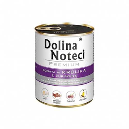 DOLINA NOTECI PREMIUM 800g konzerv kutyáknak nyúl vörösáfonyával