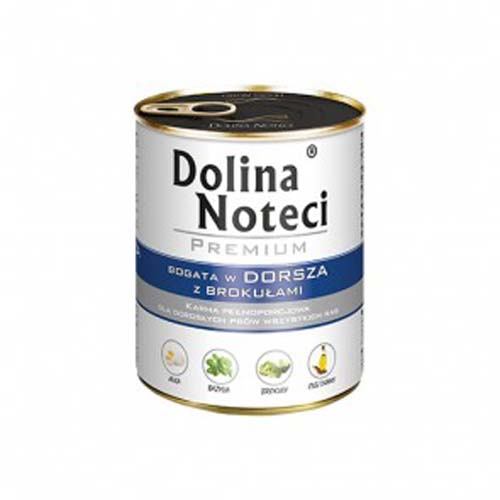 DOLINA NOTECI PREMIUM 800g konzerv kutyáknak tőkehal brokkolival