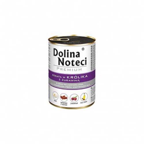 DOLINA NOTECI PREMIUM 400g konzerv kutyáknak nyúl vörösáfonyával