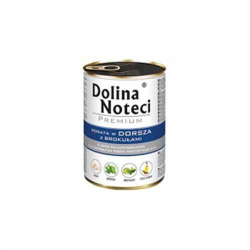 DOLINA NOTECI PREMIUM 400g konzerv kutyáknak tőkehal brokkolival