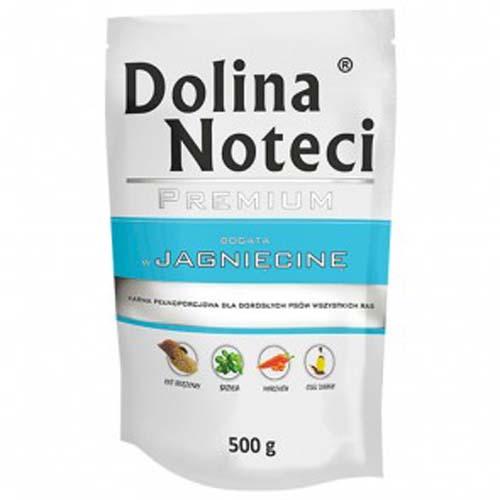 DOLINA NOTECI PREMIUM 500g hús zacskóban kutyáknak bárányhússal