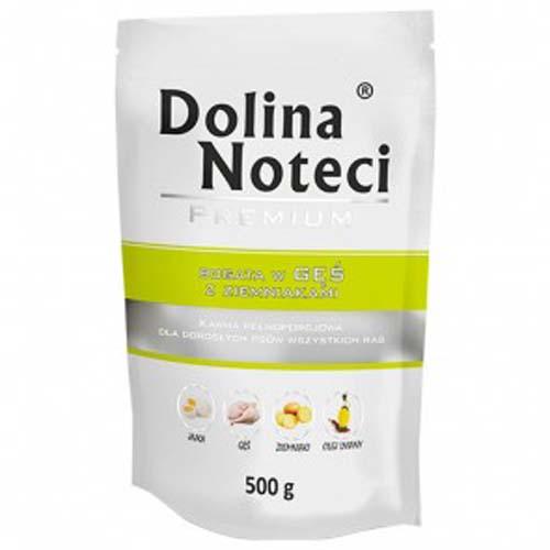 DOLINA NOTECI PREMIUM 500g hús zacskóban kutyáknak liba burgonyával