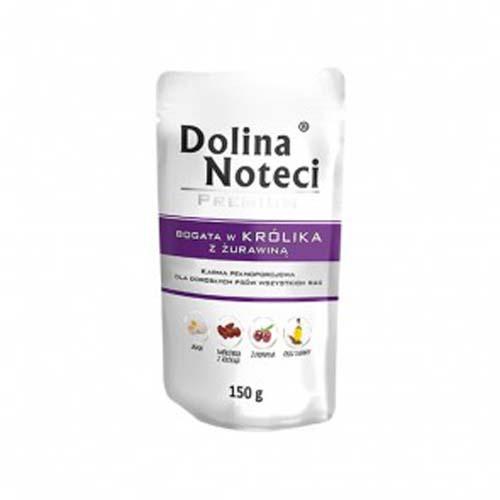 DOLINA NOTECI PREMIUM 150g alutasak kutyáknak nyúl vörösáfonyával