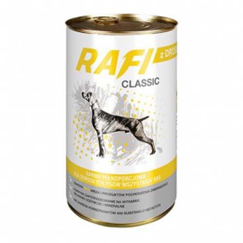 RAFI CLASSIC ADULT 1250g konzerv, baromfihús falatkák mártásban
