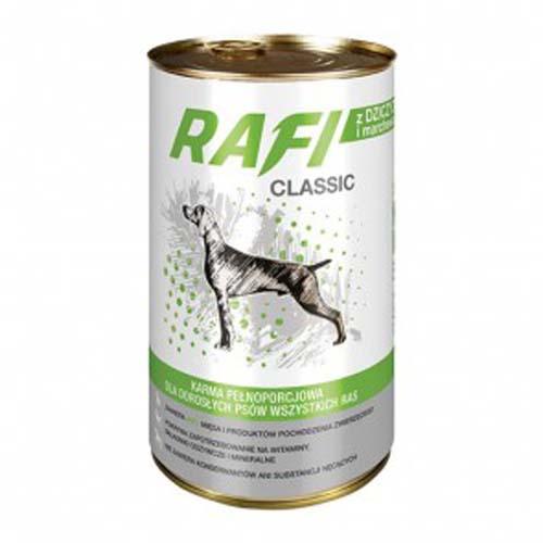 RAFI CLASSIC ADULT 1250g konzerv, vadas sárgarépával mártásban