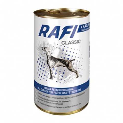 RAFI CLASSIC ADULT 1250g konzerv, kacsahús borsóval mártásban