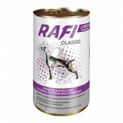 RAFI CLASSIC ADULT 1250g konzerv, nyúlhús brokkolival mártásban
