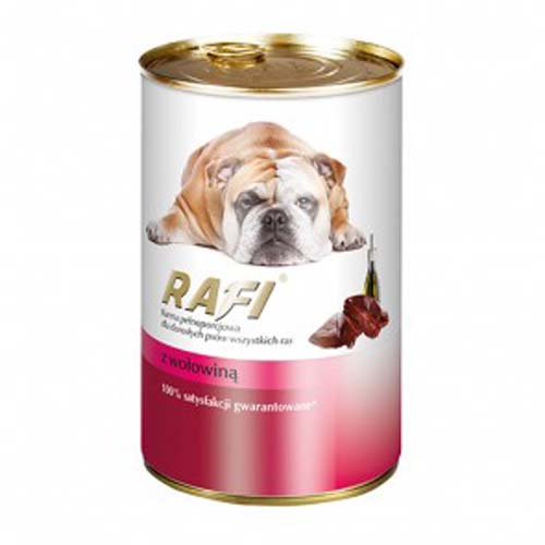 RAFI ADULT DOG Paté marhahússal 1200g
