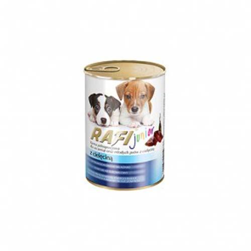 RAFI JUNIOR DOG Paté borjúhússal 400g kölyökkutyáknak