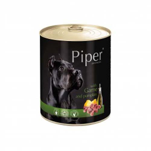 PIPER ADULT 800g konzerv kutyáknak vadhússal és tökkel