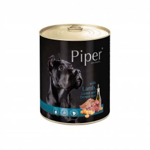 PIPER ADULT 800g konzerv kutyáknak bárányhússal, sárgarépával és barna rizzsel