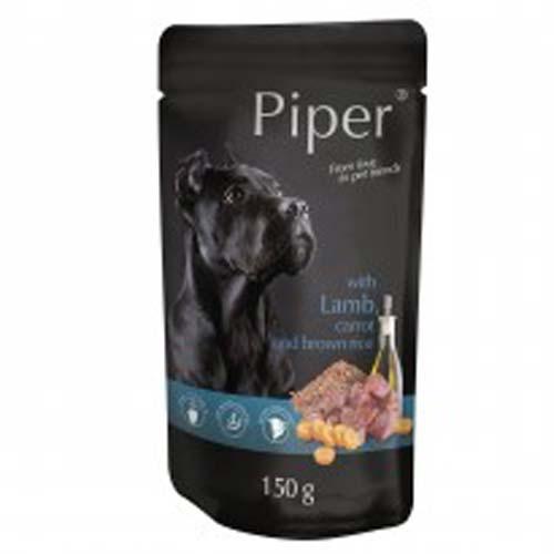 PIPER ADULT 150g alutasak kutyáknak bárányhússal, sárgarépával és barna rizzsel