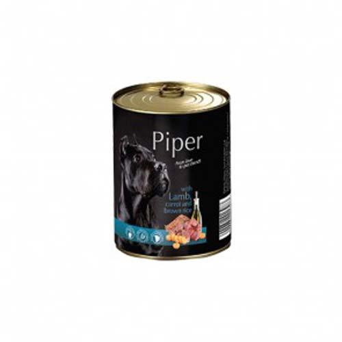 PIPER ADULT 400g konzerv kutyáknak bárányhússal, sárgarépával és barna rizzsel