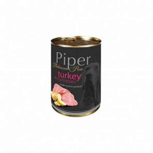 PIPER PLATINUM PURE pulyka és burgonya 400g konzerv kutyáknak