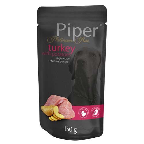 PIPER PLATINUM PURE pulyka és burgonya 150g alutasak kutyáknak