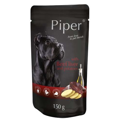 PIPER PLATINUM PURE marhahús és barna rizs 150g alutasak kutyáknak