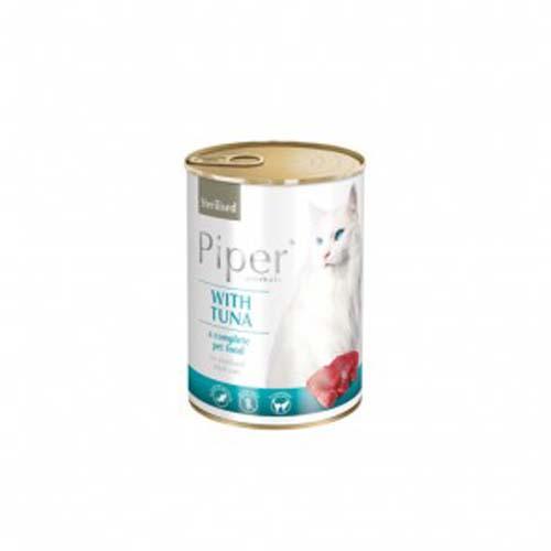 PIPER CAT tonhal 400g konzerv ivartalanított macskáknak
