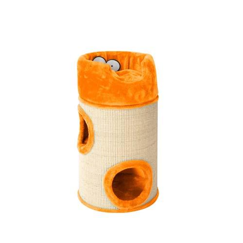 EBI COOCKOO CAT DOME DE LUXE 34x34x72cm with cushion orange