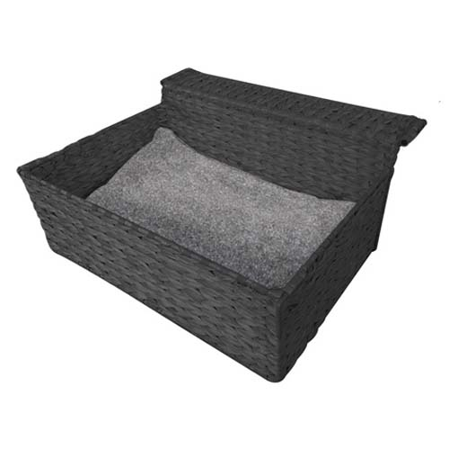 EBI Radiator bed CLOUD NINE ca.47x41x20cm/black-paper-rope
