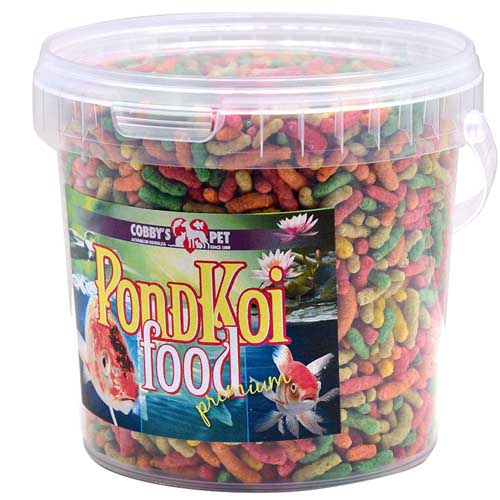 COBBYS PET POND STICKS COLOUR  1l vedro (130g)