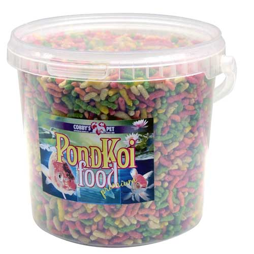 COBBYS PET POND STICKS COLOUR  2,5l vedro (0,31kg)