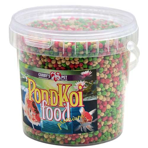 COBBYS PET POND GRANULES COLOUR  MEDIUM  1l (0,16kg) vedro