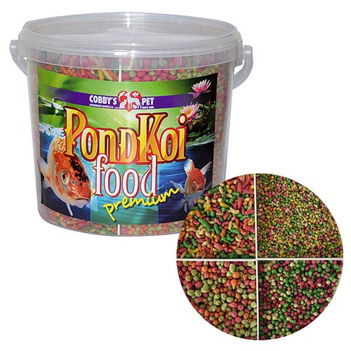 COBBYS PET POND MIX QUATTRO GROW 5,5l granule S + M + L + sticks mix