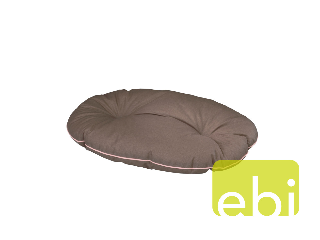 EBI D&D Ovelly perla bed 70x50x7cm, Brown w. Old Pink-piping