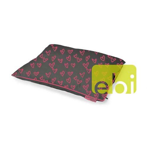 EBI D&D LOVELY PET-BED GREY-PINK ca.80x60x15cm