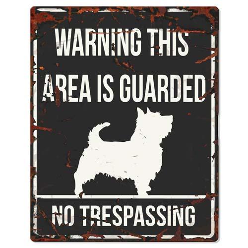 EBI D&D Fém tábla Terrier 20x0,17x25cm fekete