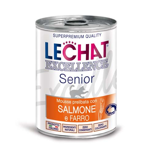 LECHAT EXCELLENCE MONOPROTEIN SENIOR pate losos & špalda 400g