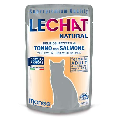 LECHAT NATURAL tonhal és lazac  80g alutasak