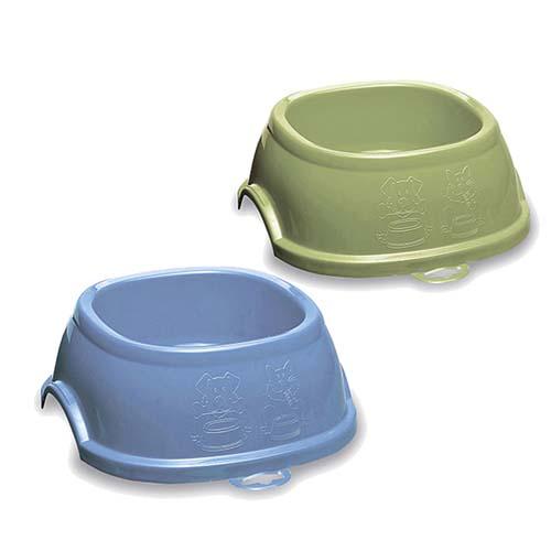 STEFANPLAST Műanyag csúszásgátló tál Break 2  0,6l kék vagy zöld
