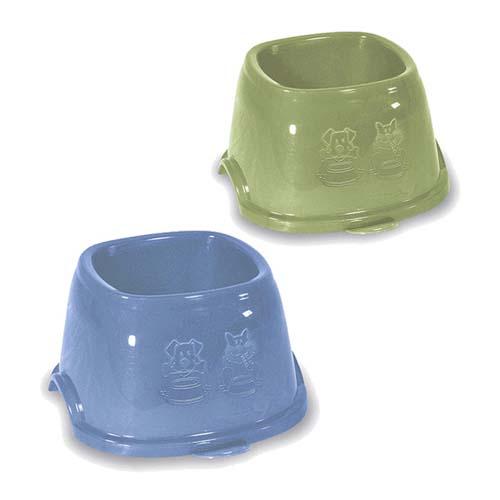 STEFANPLAST Műanyag csúszásgátló tál cocker spánielnek 0,7l kék vagy zöld