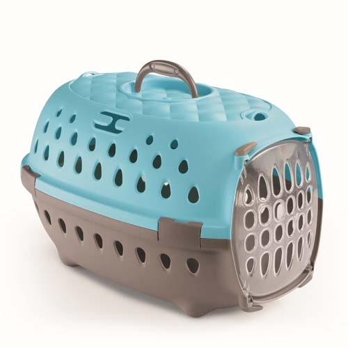 STEFANPLAST Gulliver Travel Chic light dove grey/Caribbean blue  48x32x31 cm