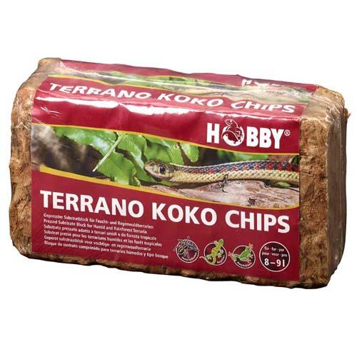 HOBBY Terrano Koko Chips 650g préselt száraz alom kókuszból